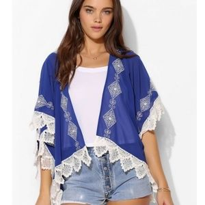 Urban Outfitters Pins and Needles Crochet Kimono